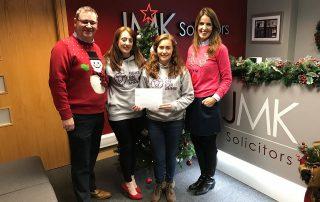 JMK staff raise £3.5k for local charities