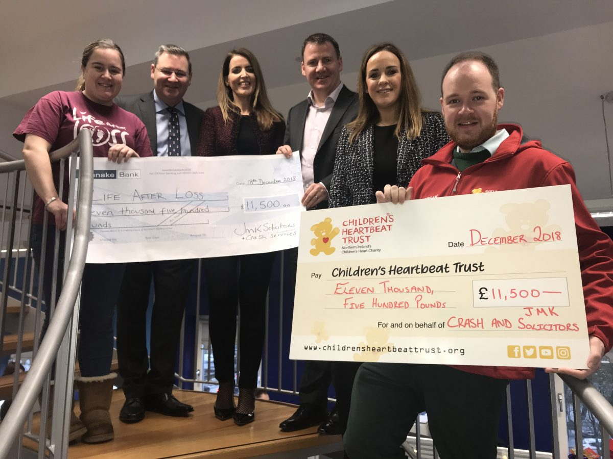 JMK Solicitors Charity Partner Cheque