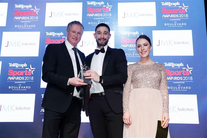 JMK sponsor Sports Person of the Year at the Belfast Telegraph Sports Awards